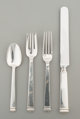 A Forty-Four Piece Tiffany & Co. Hampton Pattern Silver Flatware Service, New York City, designed 1934, manufact...