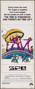 """Movie Posters:Science Fiction, Z.P.G. (Paramount, 1972). Insert (14"""" X 36""""). Science Fiction.. ..."""