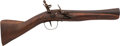 Handguns:Muzzle loading, Middle Eastern Flintlock Blunderbuss Pistol....