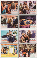"Movie Posters:War, The Guns of Navarone (Columbia, R-1966). Lobby Card Set of 8 (11"" X 14""). War.. ... (Total: 8 Items)"