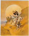 Original Comic Art:Covers, Mike Hoffman The Mysterious Mustang Woman Cover PaintingOriginal Art (Scott Company Publishing, 2005)....