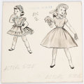 Original Comic Art:Illustrations, Advertising Art Easter Dresses for Girls Original Art (1955)....