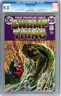Bronze Age (1970-1979):Horror, Swamp Thing #1 (DC, 1972) CGC VF/NM 9.0 White pages....