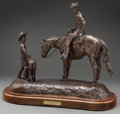 Sculpture, Jim Reno (American, 1929-2008). Dreams and Memories, Houston Livestock Show and Rodeo, 1984. Bronze with brown patina. 1...