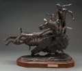 Fine Art - Sculpture, American:Contemporary (1950 to present), Skip Glomb (American, 1935-1988). When the Meat Boils Over,1977. Bronze with brown patina. 17 inches (43.2 cm) high on ...