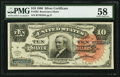 Large Size:Silver Certificates, Fr. 293 $10 1886 Silver Certificate PMG Choice About Unc 58.. ...