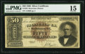 Large Size:Silver Certificates, Fr. 328 $50 1880 Silver Certificate PMG Choice Fine 15.. ...