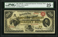 Large Size:Compound Interest Treasury Notes, Fr. 191a $20 1864 Compound Interest Treasury Note PMG Very Fine 25Net.. ...