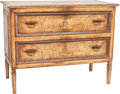 Furniture : Continental, A Continental Chinoiserie Painted Wood Two Drawer Commode. 38 h x 49-1/4 w x 24 d inches (96.5 x 125.1 x 61.0 cm). ...