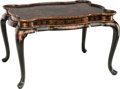Furniture : Continental, A George II-Style Lacquered and Partial Gilt Chinoiserie Table.24-3/4 h x 38 w x 28-1/4 d inches (62.9 x 96.5 x 71.8 cm). ...