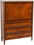 Furniture , A Jean-Baptiste Formageau Louis XVI Walnut, Mahogany, and Fruitwood Secretaire a Abattant, late 18th century. Marks: I.B F... (Total: 3 Items)