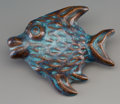 Other, A Harding Black Flambe Glazed Earthenware Fish, San Antonio, Texas, 1972. Marks: Harding Black, 1972, B976. 8 inches lon...