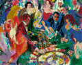 Fine Art - Work on Paper:Print, LeRoy Neiman (American, 1921-2012). Roulette II. Screenprintwith handcoloring laid on Masonite. 48 x 60 inches (121.9 x...
