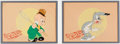 Animation Art:Production Cel, Elmer's Candid Camera Elmer Fudd and Happy Rabbit Production Cel Set of 2 (Warner Brothers, 1940). ...