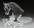 Art Glass:Lalique, Five Various Lalique Clear and Frosted Glass Sculptures, post-1945.Marks: Lalique, France. 15-1/2 inches high (39.4 cm)...(Total: 5 Items)