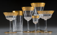 A Seventy-Five Piece St. Louis Thistle Pattern Glass Stemware Service, Saint-Louis-l