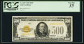 Small Size:Gold Certificates, Fr. 2407 $500 1928 Gold Certificate. PCGS Very Fine 35.. ...