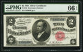 Large Size:Silver Certificates, Fr. 245 $2 1891 Silver Certificate PMG Gem Uncirculated 66 EPQ.....