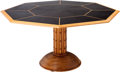 Furniture , A Large Maple and Ebonized Octagonal Center Table. 29-1/4 h x 54-1/2 w x 54-1/2 d inches (74.3 x 138.4 x 138.4 cm). ...