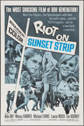"Movie Posters:Exploitation, Riot on Sunset Strip (American International, 1967). One Sheet (27"" X 41""). Exploitation.. ..."