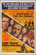 """Movie Posters:Western, Gunfight at the O.K. Corral/Last Train from Gun Hill Combo(Paramount, R-1963). One Sheet (27"""" X 41""""). Western.. ....."""