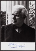 """Movie Posters:Comedy, Charles Chaplin (c. 1960s). Autographed Photo (4"""" X 5.5""""). Comedy.. ..."""
