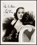 "Movie Posters:Miscellaneous, Fay Wray by A.L. ""Whitey"" Schafer (Columbia, 1937). AutographedPortrait Photo (8"" x 10""). Miscellaneous.. ..."