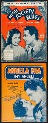 """I'm in the Market for You"" from High Society Blues & Other Lot (Fox, 1930). Fine+. Autographed Sheet Musi..."