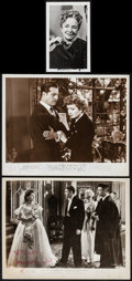 "Movie Posters:Miscellaneous, Joan Fontaine in Rebecca and Others Lot (Selznick, R-1948).Autographed Photos (3) (8"" X 10"" & 3.5"" X 5.5). Miscellan..."