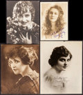 Movie Posters:Miscellaneous, Louise Lovely & Others Lot (Various, 1910s). Autog...