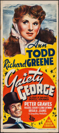 "Movie Posters:Musical, Gaiety George (B.E.F., 1946). Australian Daybill (13"" X 30""). Musical. Also known as Showtime.. ..."
