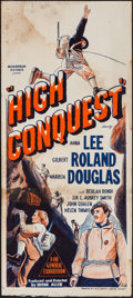 "Movie Posters:Adventure, High Conquest (Monogram, 1947). Australian Daybill (13"" X 29.5"").Adventure.. ..."
