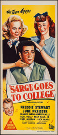 """Movie Posters:Musical, Sarge Goes to College (Monogram, 1947). Australian Daybill (13"""" X30""""). Musical.. ..."""
