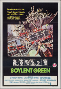 """Soylent Green & Other Lot (MGM, 1973). Australian One Sheets (2) (27"""" X 40""""). Science Fiction. ... (To..."""