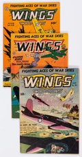 Golden Age (1938-1955):War, Wings Comics Group of 4 (Fiction House, 1943-45) Condition: AverageVG+.... (Total: 4 Comic Books)
