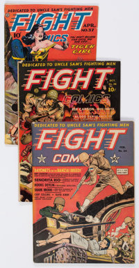 Fight Comics Group of 4 (Fiction House, 1942-46).... (Total: 4 Comic Books)