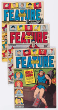 Golden Age (1938-1955):Miscellaneous, Feature Comics Group of 5 (Quality, 1942-46).... (Total: 5 Comic Books)