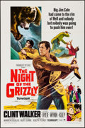 "Movie Posters:Adventure, The Night of the Grizzly (Paramount, 1966). One Sheet (27"" X 41"")& Lobby Cards (7) (11"" X 14""). Adventure.. ... (Total: 8 Items)"