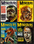 """Movie Posters:Horror, Famous Monsters of Filmland (Central Publications, 1961). Magazines(4) (Multiple Pages, 8"""" X 11""""). Horror.. ... (T..."""