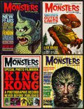 "Movie Posters:Horror, Famous Monsters of Filmland (Central Publications, 1963/1964).Magazines (4) (Multiple Pages, 8.25"" X 11""). Horror."