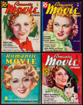 "Movie Posters:Miscellaneous, Romantic Movie Stories (Fawcett Publications, 1934-1935). Magazines(4) (Multiple Pages, 8.5"" X 11""). Miscellaneous.. ... (Total: 4Items)"