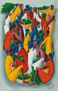 Post-War & Contemporary, Marthel Lundy (Haitian, 20th Century). Untitled. Oil oncanvas. 24 x 16 inches (61.0 x 40.6 cm). Signed lower right:M...