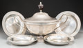 Other, A Continental Pewter Tureen with Six Bowls, Europe, 19th century. Marks: (various). 11-5/8 h x 16 w x 10-7/8 d inches (29.5 ... (Total: 8 Items)