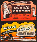 """Movie Posters:Western, Gun Fury & Other Lot (Columbia, 1953). Silk Screened Table TopStandees (2) (20"""" X 11""""). Western.. ... (Total: 2 It..."""