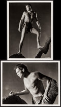 "Movie Posters:Adventure, Johnny Weissmuller as Tarzan (c. 1960s). Restrike Photos fromNegatives (2) (11"" X 14""). Adventure.. ... (Total: 2 Items)"