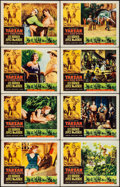 "Movie Posters:Adventure, Tarzan and the She-Devil (RKO, 1953/R-1957). Lobby Card Set of 8(11"" X 14""), Uncut Pressbooks (2) (12 Pages, 12"" X 18"" & 4 ...(Total: 11 Items)"