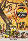 "Movie Posters:Adventure, Tarzan in King Solomon's Mines & Others Lot (DC Films, 1973).Spanish One Sheets (2) (27.5"" X 39"") Spanish Pressbook (4 Page...(Total: 5 Items)"