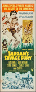 "Movie Posters:Adventure, Tarzan's Savage Fury (RKO, 1952). Insert (14"" X 36""), UncutPressbook (12 Pages, 12"" X 18"") Press Sheet (9"" X 12.75"")..."