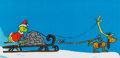 Animation Art:Production Cel, Doctor Seuss' How the Grinch Stole Christmas Grinch and MaxProduction/Presentation Cel Setup Signed by Chuck Jones (M...
