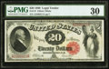 Large Size:Legal Tender Notes, Fr. 147 $20 1880 Legal Tender PMG Very Fine 30.. ...